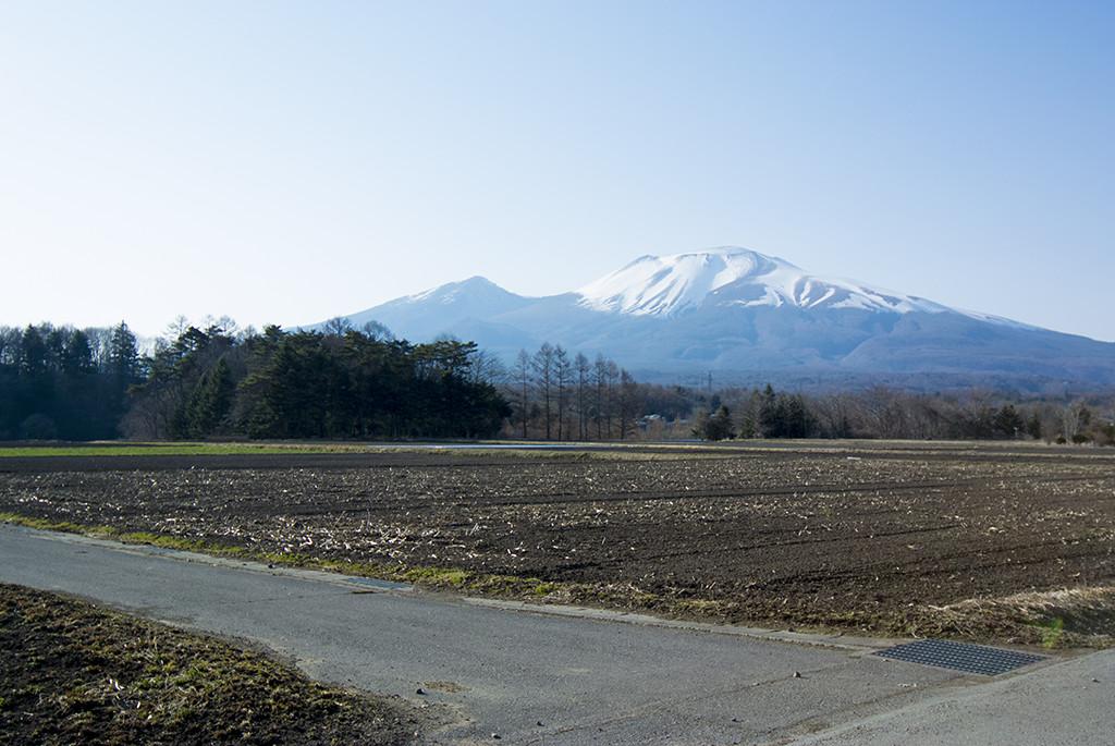 浅間山も白化粧